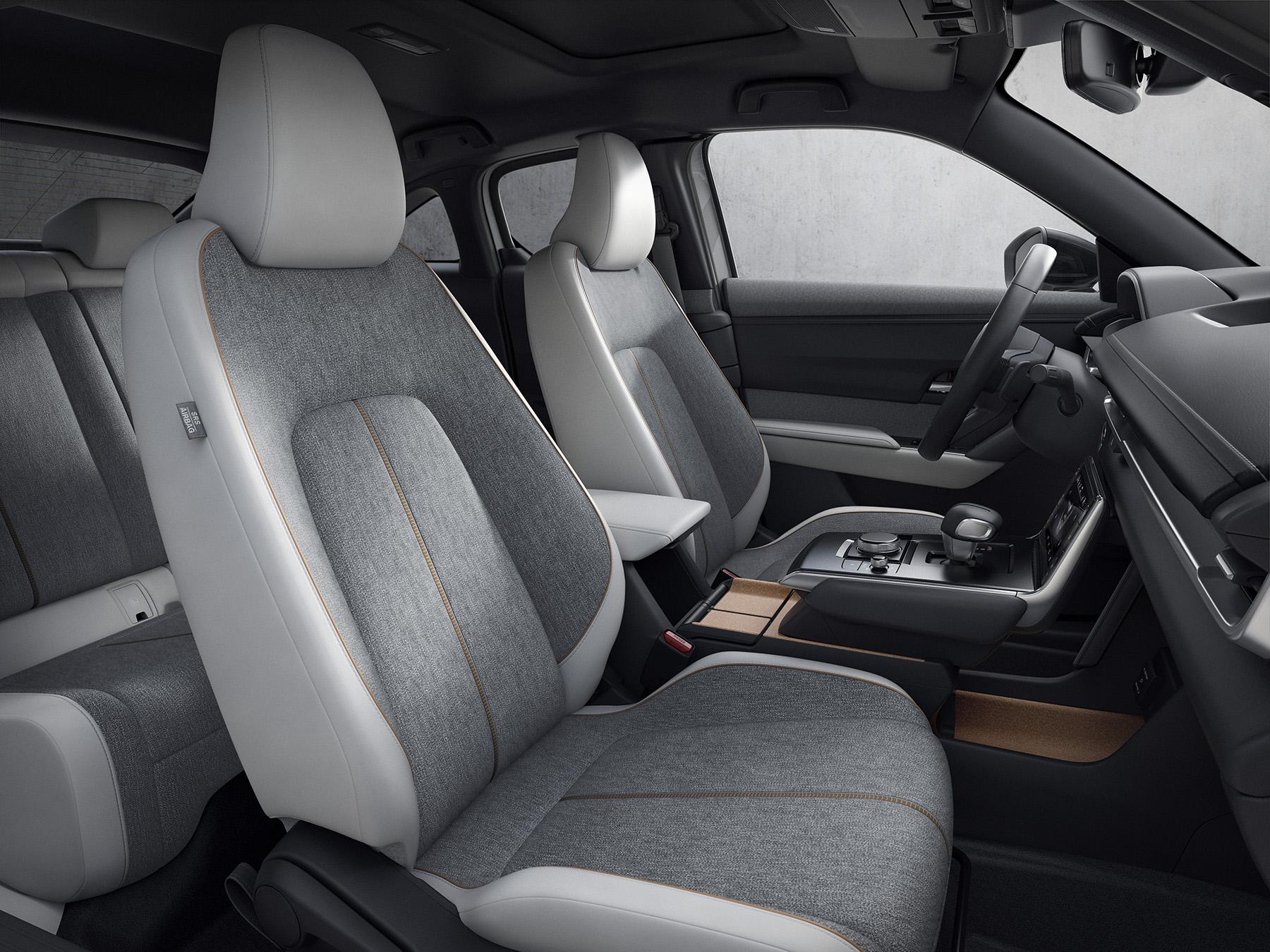 Interior of the 2022 Mazda MX 30
