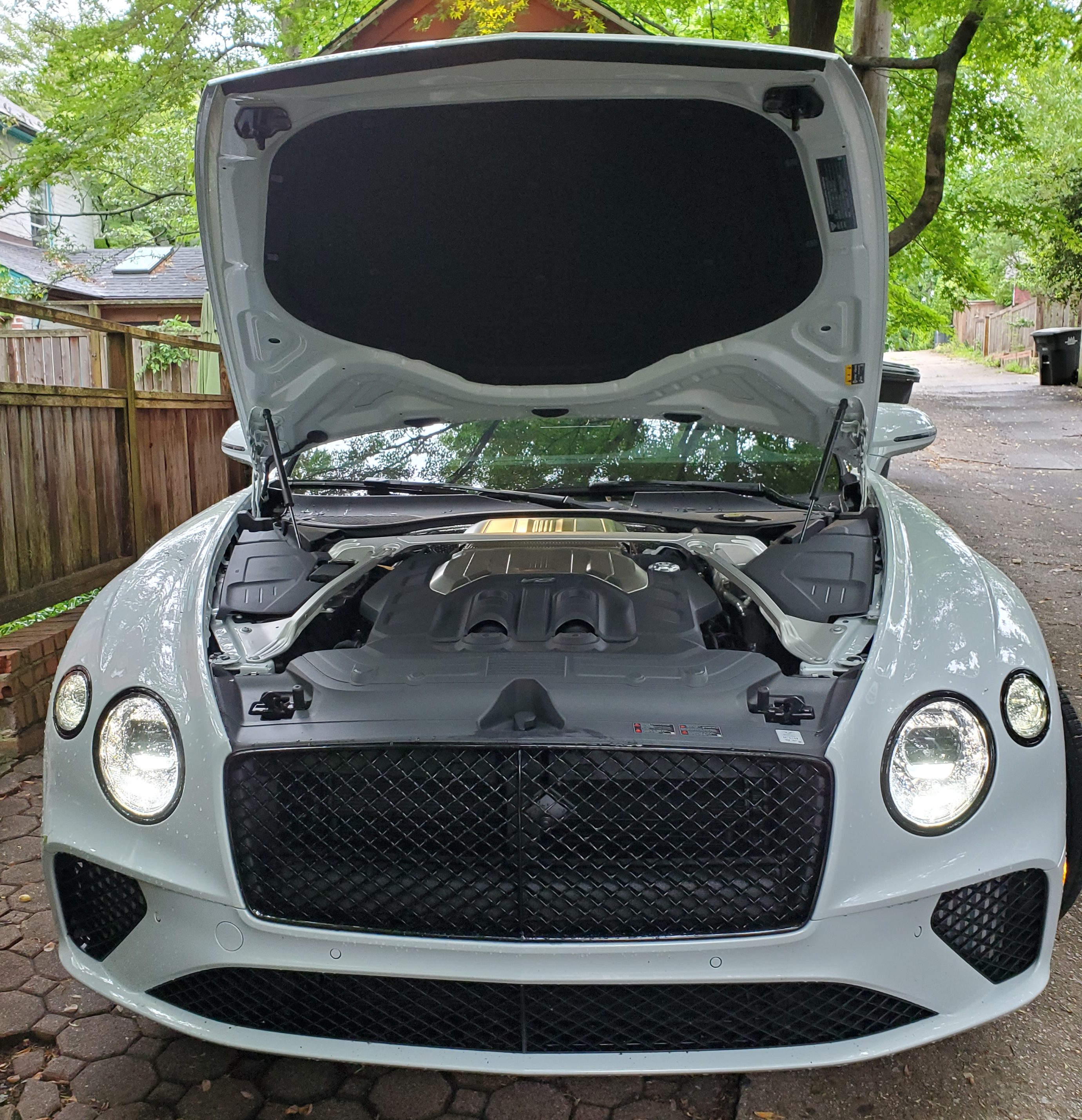 bentley continental gt v8 engine compartment