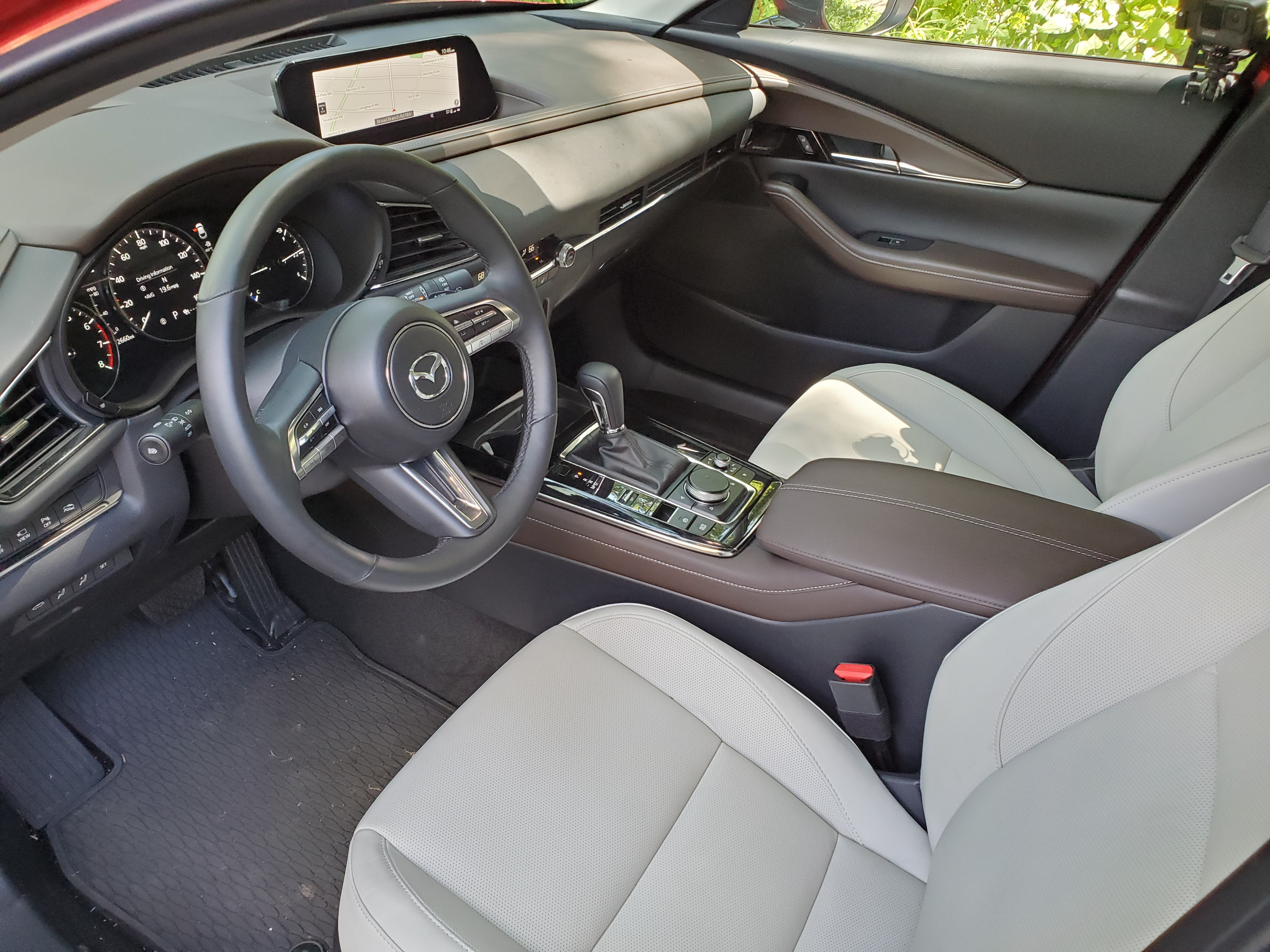 front seats and dashboard of the mazda cx30